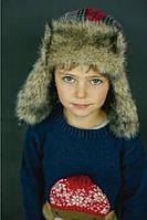 DemboHouse. Зимова шапка-вушанка для хлопчика Кені червона 17.01.010 dd14c50a09f7e