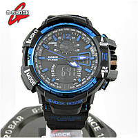 Часы Casio G-Shock GW-A1100 black/blue. Реплика ТОП качества!