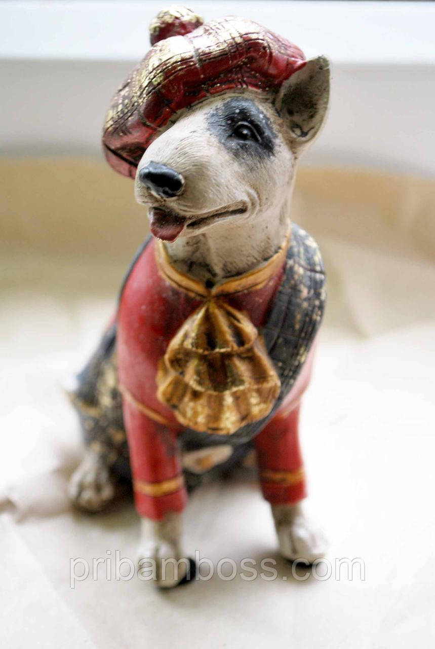 Собака бультерьер статуэтка 2 вида