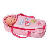 Люлька-переноска Zapf для куклы Baby Born Сладкие сны 2 в 1 с подушкой (822203)