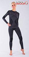 Комплект женского термобелья с шерстью альпаки HASTER ALPACA WOOL зональное бесшовное шерстяное