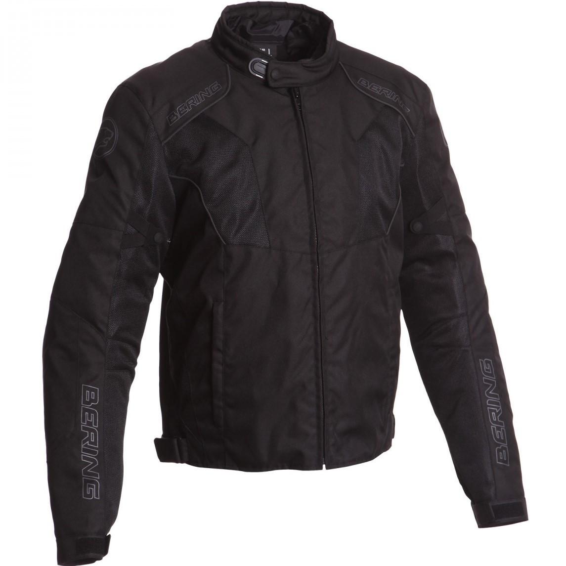 Мотокуртка Bering текстиль Tiago черная, M