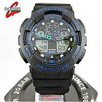 Часы Casio G-Shock ga-100 black/blue. Реплика ТОП качества!