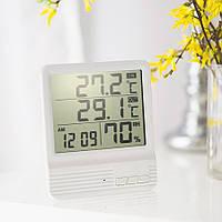 Цифровой термометр-гигрометр CX-301A c выносным датчиком, с часами, будильником калекндарем, фото 1
