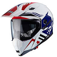 """Шлем Caberg XTRACE LUX white\blue\red """"XL"""", арт. C2MB00D6, фото 1"""