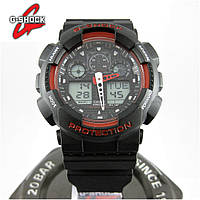 Часы Casio G-Shock GA-100 black/red. Реплика ТОП качества!