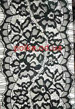 Кружево черное с ресничками (ширина 18,5см)1 лента - 3,2м