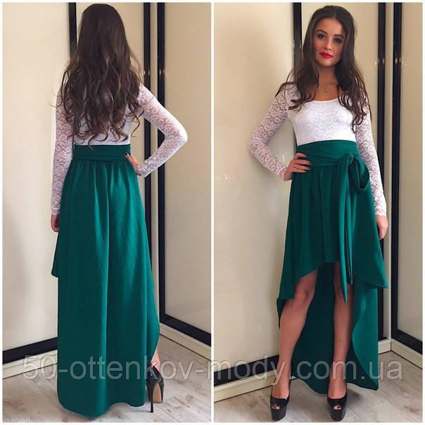c8dccb6eaed740b Женское красивое платье в пол с дорогим гипюром (3 цвета): продажа ...