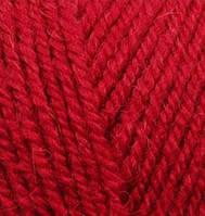 Пряжа Alize ALPACA ROYAL красный №56полушерсть для ручного вязания