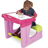 Детская парта с доской для рисования Smoby 28061