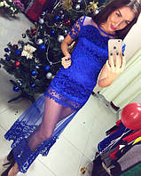 Женское шикарное вечернее кружевное платье