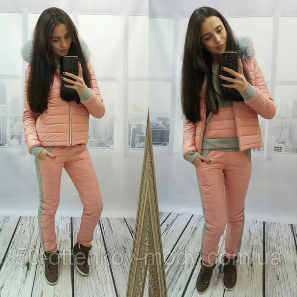 3c2cb7603c2c Женский теплый зимний костюм тройка (4 цвета) - Интернет магазин товаров  для всей семьи