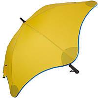 Противоштормовой желтый зонт-трость для женщин механический BLUNT (БЛАНТ) Bl-lite-2-yellow-blue