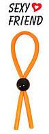 Кольцо эрекционное лассо цвет оранжевый #372