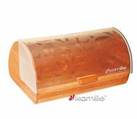 Хлебница бамбуковая с пластиковым стеклом 39*28*18.5см