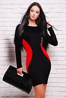 Женское стильное платье с эффектом узкой талии