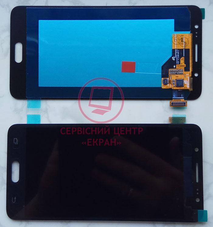 Дисплей модуль Samsung J510 Galaxy J5 (2016) в зборі з тачскріном, чорний, оригінал