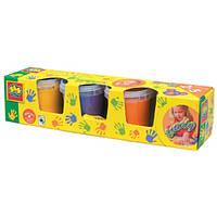 Пальчиковые краски МАЛЕНЬКИЙ ХУДОЖНИК (4цвета,в пластиковых баночках) (Ses)