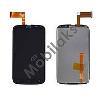 Дисплей HTC Desire V T328w с тачскрином в сборе, цвет черный, копия высокого качества