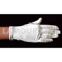 Короткие перчатки из атласа, длина 24 см белые