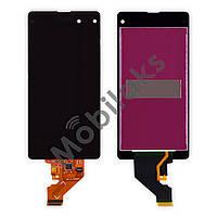 Дисплей Sony Xperia Z1 Compact D5503, D5502 с тачскрином в сборе, цвет черный