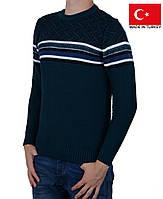 Яркий молодежный свитер с орнаментом.Качественные теплые кофты на зиму.