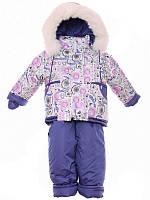 Детский зимний костюм на овчине-подстежке (от 6 до 18 месяцев) Белая метелица
