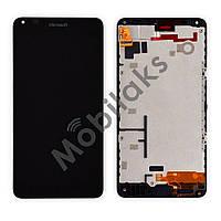 Дисплей Nokia 640 Lumia с тачскрином в сборе, цвет черный, в рамке