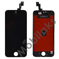 Дисплей iPhone 5S, iPhone SE с тачскрином в сборе, цвет черный, копия высокого качества, TEST OK