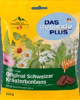 Витамины-леденцы Экстракт 20 Швейцарских трав и Мед DAS gesunde PLUS Original Schweizer Kräuterbonbons, 125 g