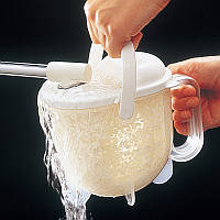 Емкость для промывания риса и круп. Высокое качество. Практичный дизайн. Удобная рисомойка. Код: КДН2224