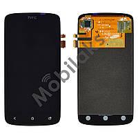 Дисплей HTC One S Z560e (Z320, Z520, G25) с тачскрином в сборе, цвет черный, копия высокого качества