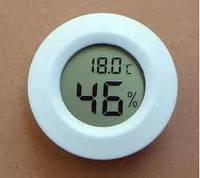 Термометр-гигрометр цифровой круглый белый WSD 12-2W
