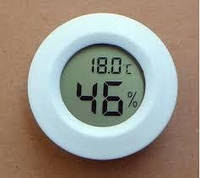 Термометр-гигрометр цифровой круглый белый WSD 12-2W, фото 1