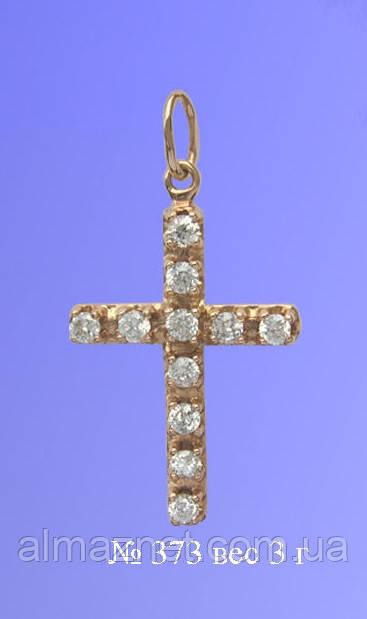 Крест из красного золота Вознесение