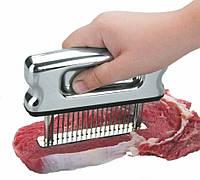 Тендерайзер для отбивания мяса ручной нержавеющая сталь 12х2 см. Lacor