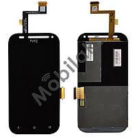 Дисплей HTC T326e Desire SV с тачскрином в сборе, цвет черный, копия высокого качества
