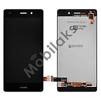 Дисплей Huawei P8 Lite (ALE L21 L20 L22) с тачскрином в сборе, цвет черный, большая микросхема