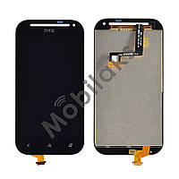 Дисплей HTC C520e One SV (C525e, T528t) с тачскрином в сборе (черный), копия высокого качества