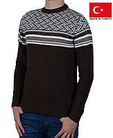 Подростковый свитер с орнаментом.Качественные подростковые кофты на зиму.