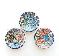 "Декор тарелки ""Рыбки"" d 7.5 см, 3 шт. Узбекистан"
