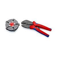 Обжимные клещи с магазином для смены плашек и 5 профилями обжима 250 мм - Knipex 97 33 02
