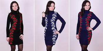 Модели вязаных платьев - Маки