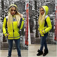 Женская стильная демисезонная куртка-жилет (6 цветов) (р-ры 44-52)