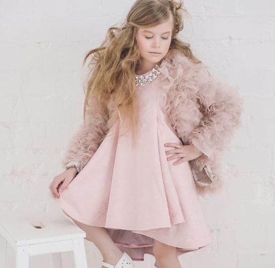 Платье - Жакард - пыльная роза