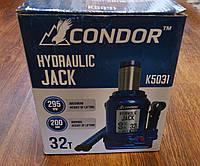 """Домкрат гідравлічний 32 т. """"CONDOR"""" (в картон. уп.) 200 - 295 мм, K5031"""
