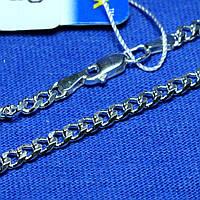Крупный серебряный браслет плетение Ромб 21 см 90201110043, фото 1