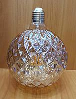 Светодиодная винтажная LED лампа Filament HOROZ ELECTRIC G125 6W