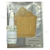 Demax Золотая маска для лица, 5 пластин + лосьон активатор