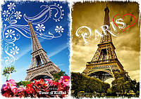 Декупажная карта А4 Париж 2